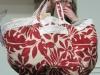 Vicki Lienau Red and Ivory Bag
