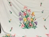 Marie Reed-Applique quilt of Iris flowers from an older pattern.