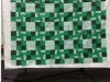 Regina Packard-green and white quilt for Wounded Warriors project