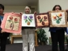Workshop results-4 small applique quilts by…Dolly Wodin, Pat Clark, Marie Dunne, and Marie Girard